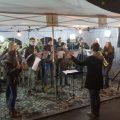 Zur musikalischen Einrahmung des Weihnachtsmarkts trug auch eine kleine Besetzung der Jugendkapelle bei.